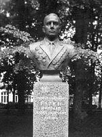 Бюст генерал-лейтенанту Н.А. Гагену в городе Ельня