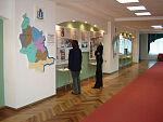 Музейная экспозиция в Доме Советов, посвященная 10-летию ЗСО