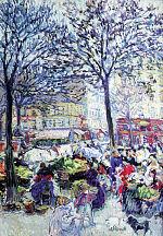 Н. Тархов. Парижский рынок. В народном квартале