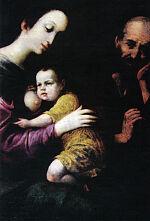 Луис де Моралис. Святое семейство.