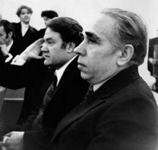 Н.Р. Рябинин и Н.Н. Благов на писательском съезде в Москве