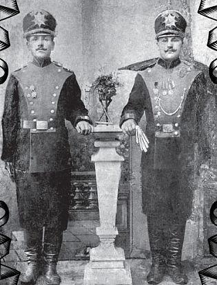 А.Е. Сурцев (справа). Царское Село. 1911 г.