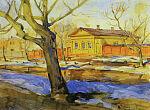 Бывшая Московская улица в Симбирске в акварелях Архангельского